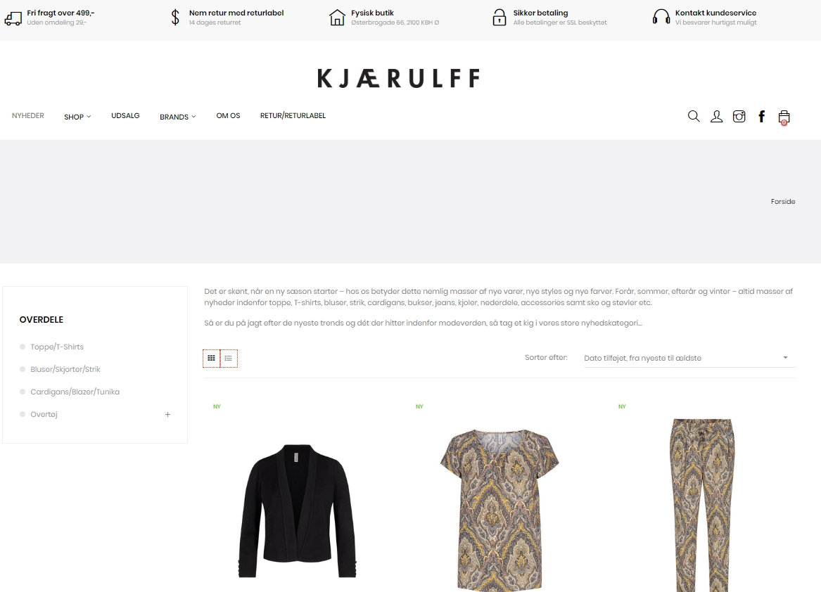 Kjærulff Copenhagen tøjbutik webshop